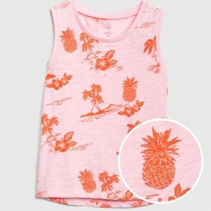 NWT Gap Sleeveless Pineapple Tee, Size 5T